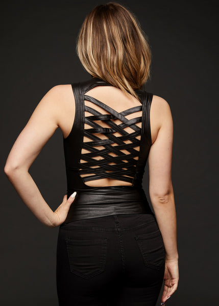 black top with cutouts