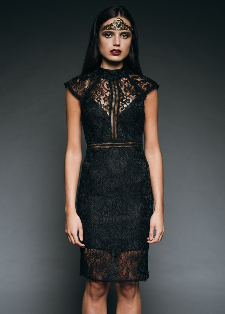 black lace goth dress