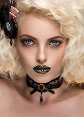 black lace goth chocker