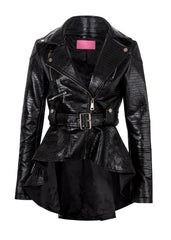 leather tail jacket