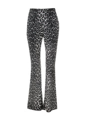 black leopard print bell bottoms