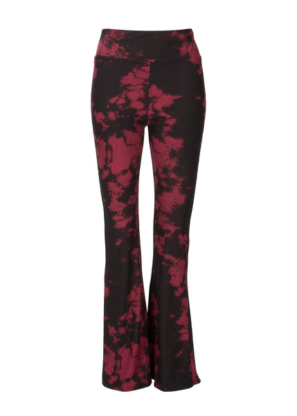 black and red tie dye bell bottoms