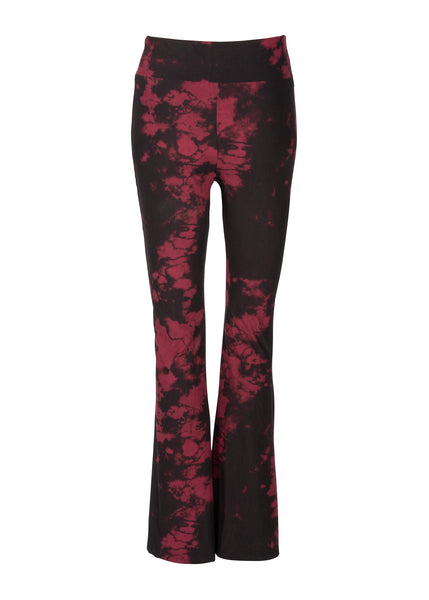 black and red tie dye flares
