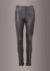 black sequin legging