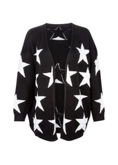 black and white star cardigan