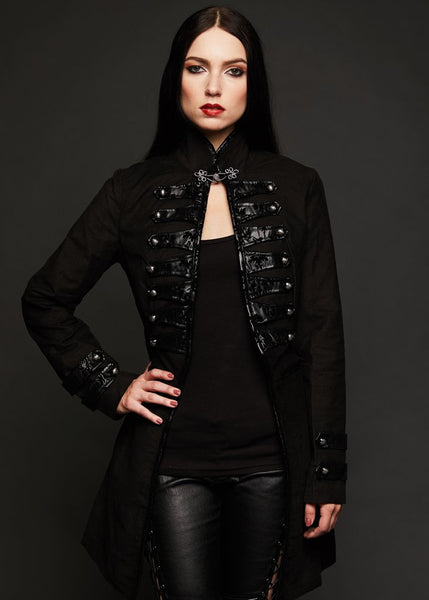black military steampunk coat