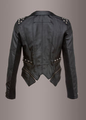black studded biker jacket