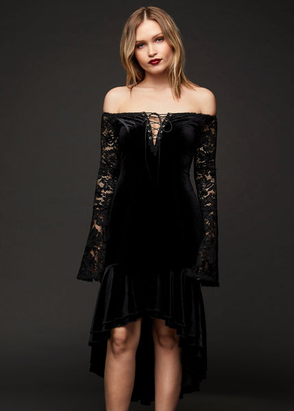 black velvet witch dress