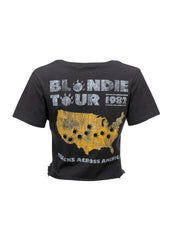 1982 tour blondie band tee
