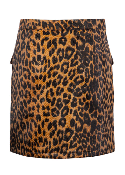 cheetah mini skirt