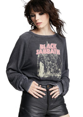 cropped Black Sabbath sweatshirt