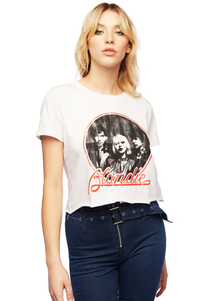 cropped blondie band tee