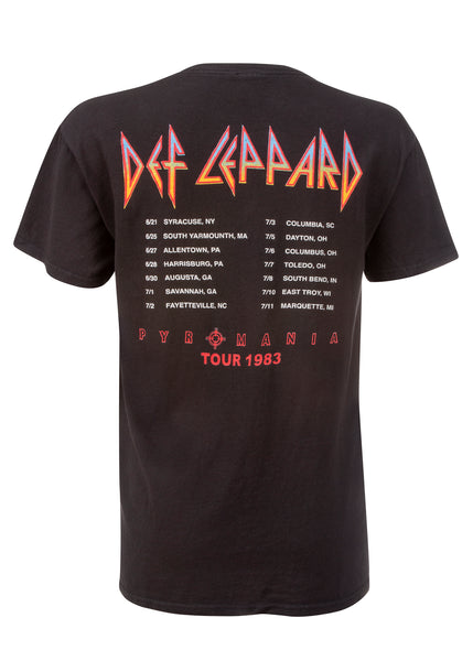 Def Leppard Pyromania Tour Band Tee