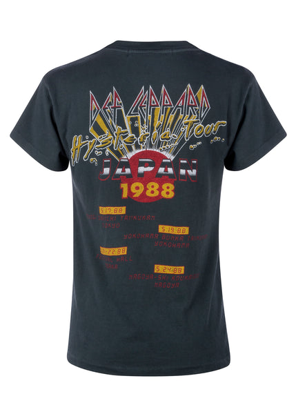 japan tour def leppard band shirt