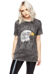 Rock Hard Ride Free Relaxed Fit Eagle Tee