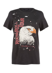 eagle rock n roll graphic tee