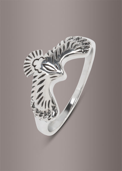 sterling silver eagle ring