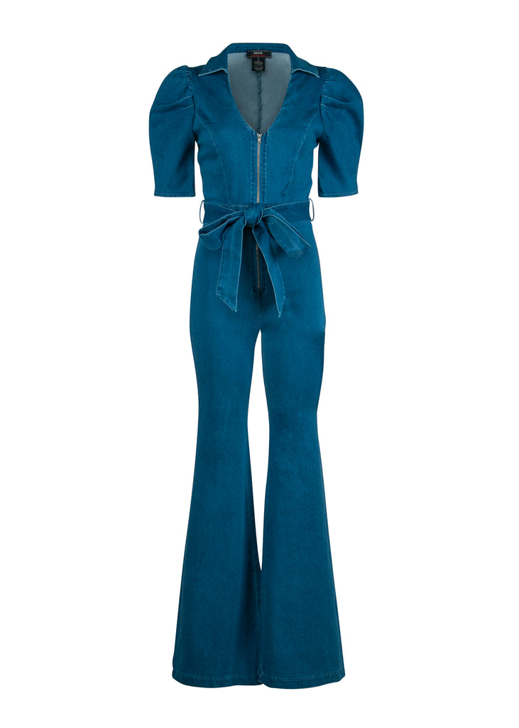 bell bottom jeans jumpsuit