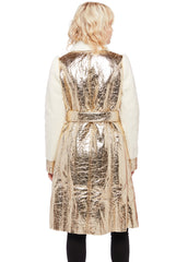 gold metallic coat
