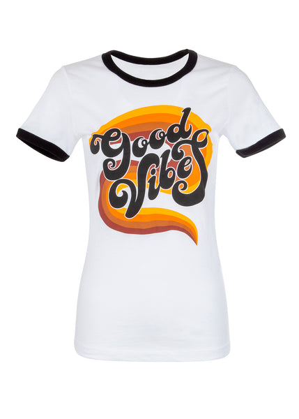 good vibes retro tee