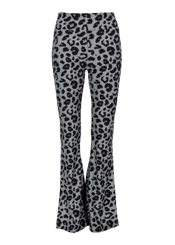 gray leopard print bell bottoms