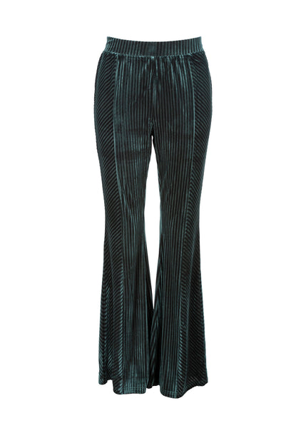 green velvet bell bottom pants