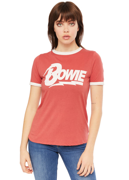 Red David Bowie band tee