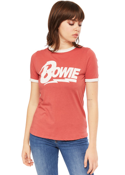 Red David Bowie t-shirt