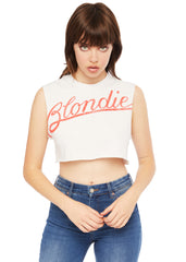 Blondie cropped Band t-shirt