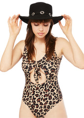 Leopard print bathing suit