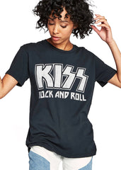 kiss rock and roll band t shirt