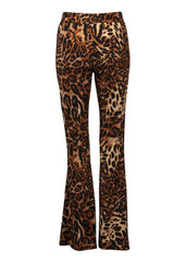leopard bell bottom pants