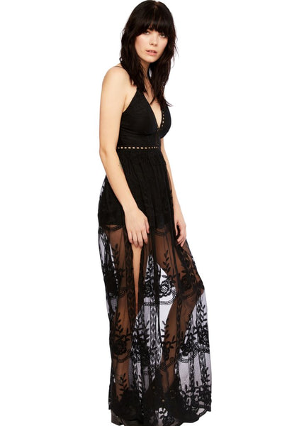 black lace festival dress