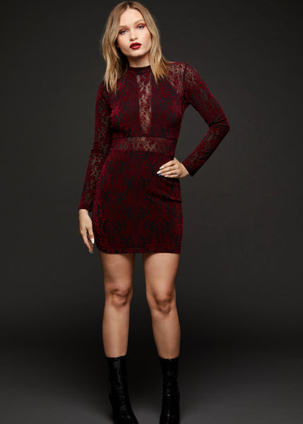 red velvet cocktail dress
