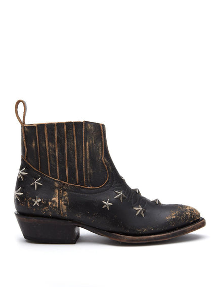 Star studded ankle boots