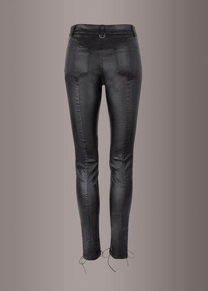 black punk rave leather pants