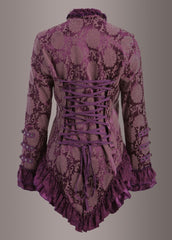 purple lace gothic coat