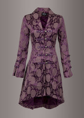 purple goth coat