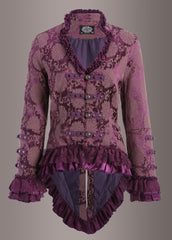 purple lace gothic jacket
