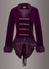 purple velvet goth coat