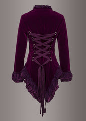 purple velvet gothic coat