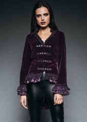 purple velvet gothic jacket