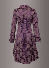 purple gothic coat