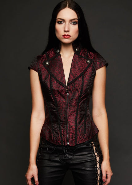 red brocade gothic shirt