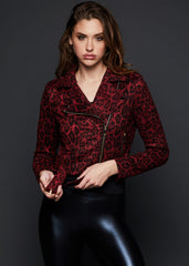 red cheetah moto jacket