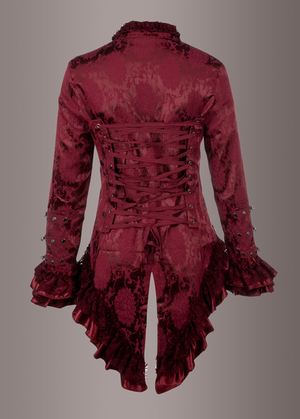 red gothic tailcoat