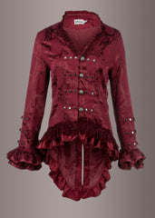 red gothic tail jacket
