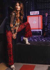 red leopard bell bottoms