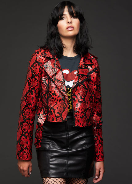 red snakeskin jacket