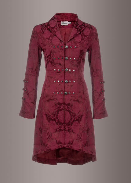 red steampunk coat